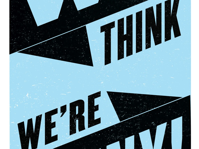 We're Funny atlas improv co. poster typography screenprint