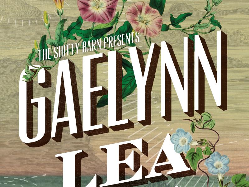 Gaelynn Lea Poster - Shitty Barn Sessions 153.17 music shitty barn typography flowers gig poster