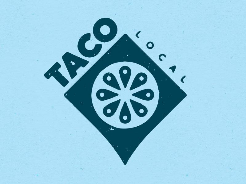 Taco Logo - Pinpoint food locate lemon lime tomato geolocation logo local taco