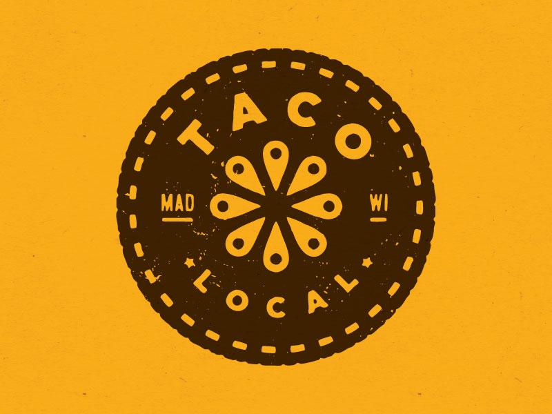 Taco Logo - Hat food locate lemon lime tomato geolocation logo local taco