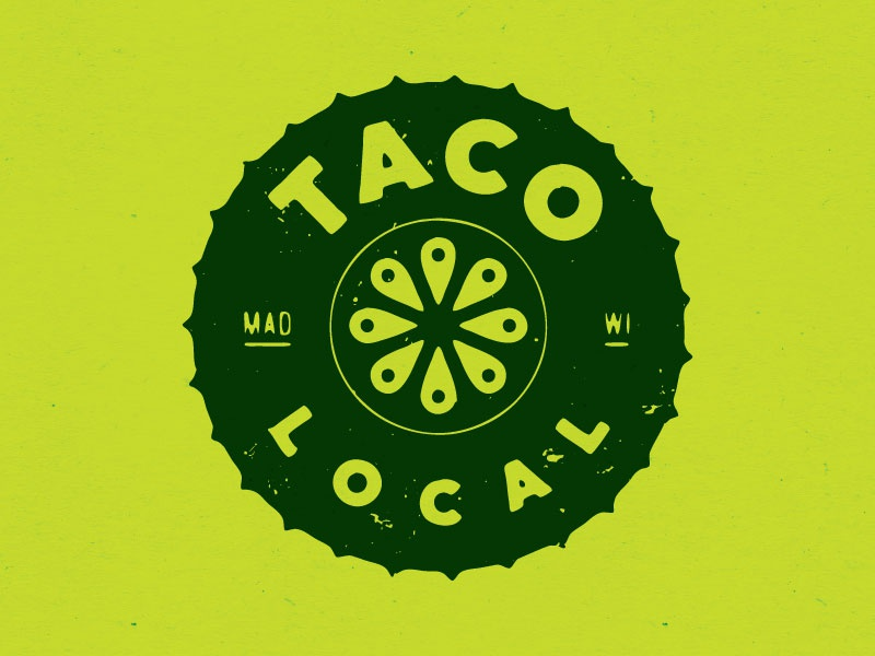 Taco Logo - Spikey food locate lemon lime tomato geolocation logo local taco