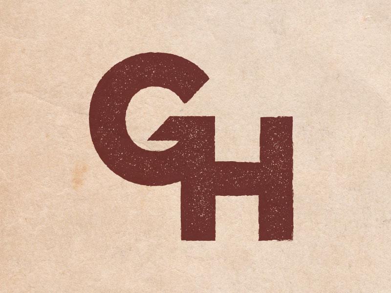 GH Monogram lettering monogram logo
