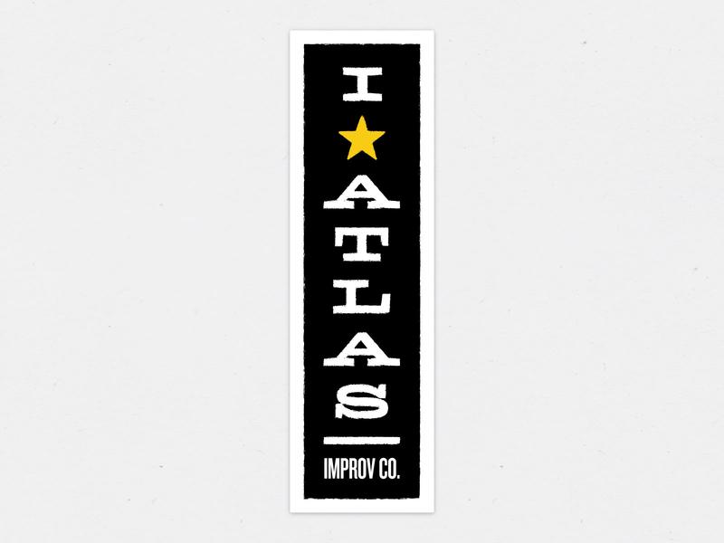 I ★ Atlas typography atlas improv co. star texture promo swag improv sticker