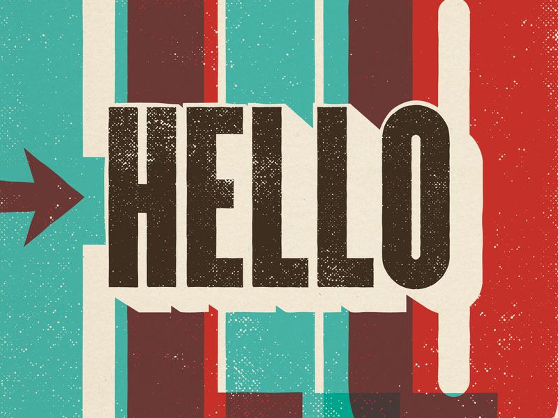 Instagram Kickoff Post typographic texture arrow overprint typography