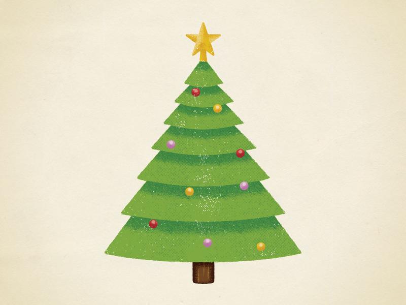Christmas Doodle star illustration christmas tree christmas texture