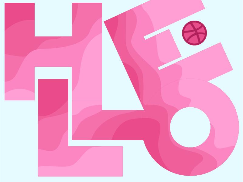 Hello! abstract typography design type