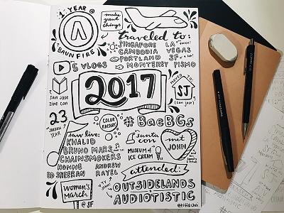 2017 drawing illustration lettering hand