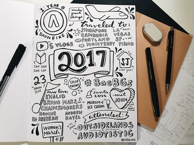 2017 drawing illustration lettering hand
