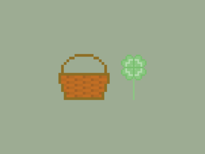Basket And Clover