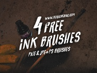 4 Free Ink Brushes! (PNG&JPG+PS BRUSHES)