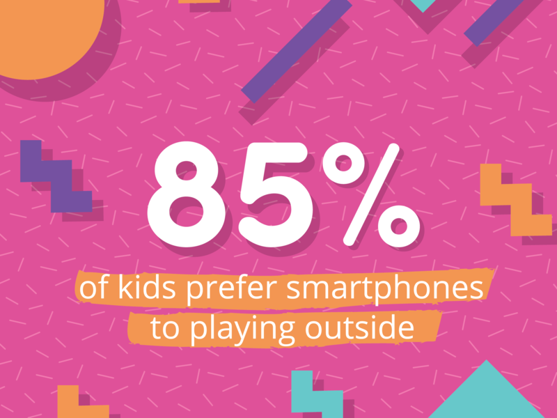 Screen time stats illustration