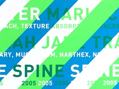 Spine 2005 - College for Creative Studies typography graphic design publication design creative direction art direction