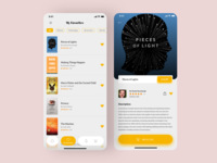 Books store App - books page + Favorites page