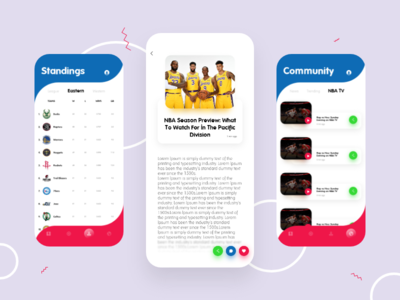 NBA App Redesign | Main Pages