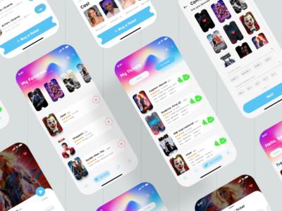 Cinema App | Behance Presentation ui kits wireframes information architecture presentation behance cinema app ios xd app ux design ui design
