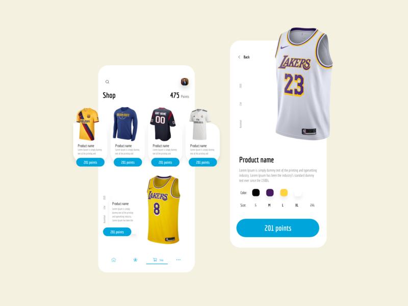 Sports News App - Shop dribbble shop ecommerce app news app sports app visual design ios xd app ux design ui design