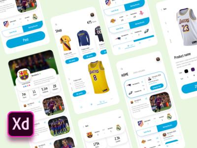 Sports News App - UI Kits source file