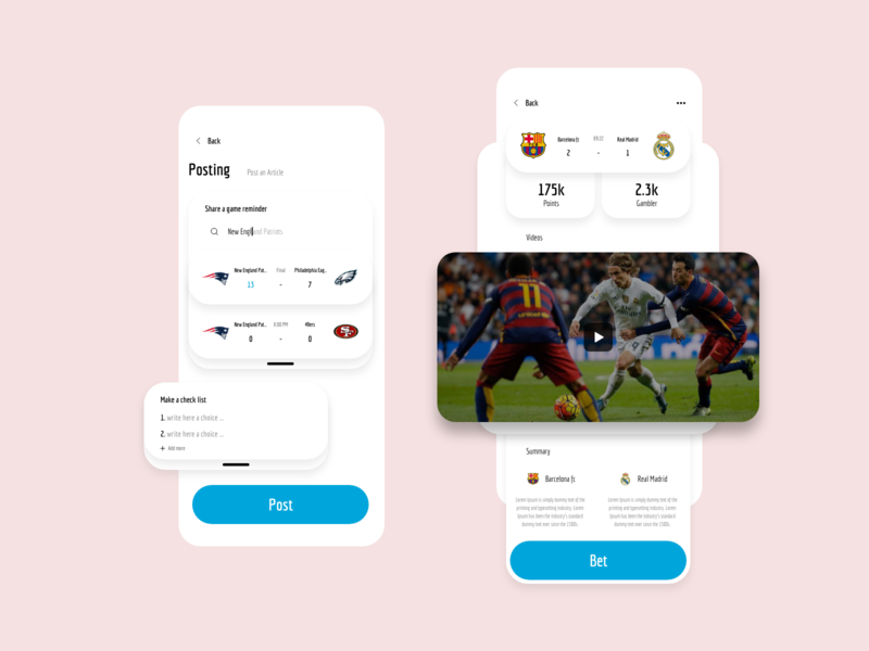 Sports News App Games details games news sports visual design dribbble ios xd app ux design ui design