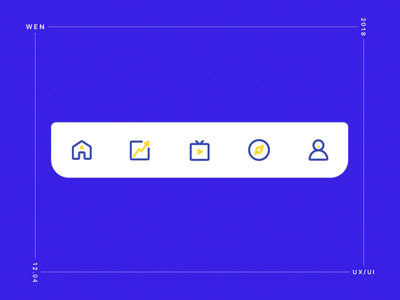 Icon after affects icon flat design app ux ui animation
