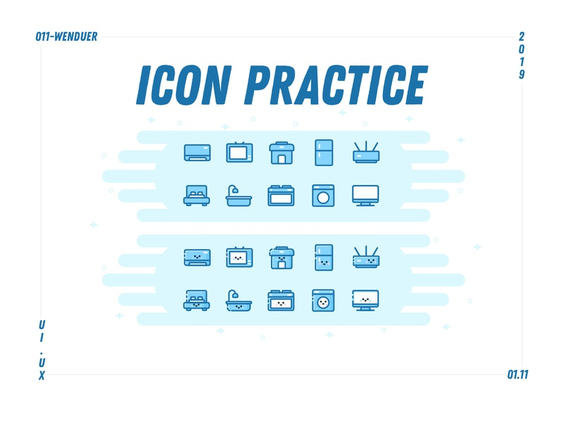 Icon practice ui design flat app icon web smart appliances renting a house homestay home appliances