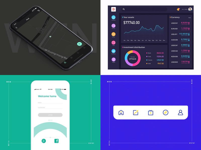 Wenduer's 2018 signin dashborad website smart appliances renting a house homestay home appliances web icon app flat design ux animation ui
