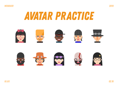 Avatar ui design flat icon god of war one piece avatar
