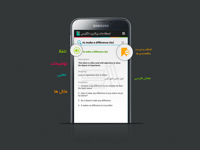 idioms - Android app mobile app freelance interface application design idioms dictionary android app design android app app design typography ux ui branding
