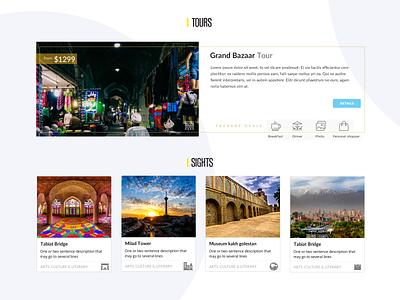 Hellopersia UI Components city branding shaho web design itinerary tour card illustration tehran hellopersia tourism city component iran ux interface ui design freelance branding