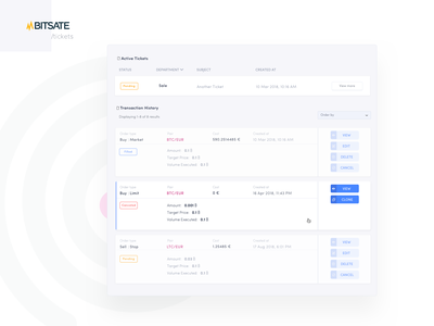 Transaction items and its hover states tag design status transaction crypto filtering sort responsive hover dashboard exchange cryptocurrency trading table design table ux interface ui design
