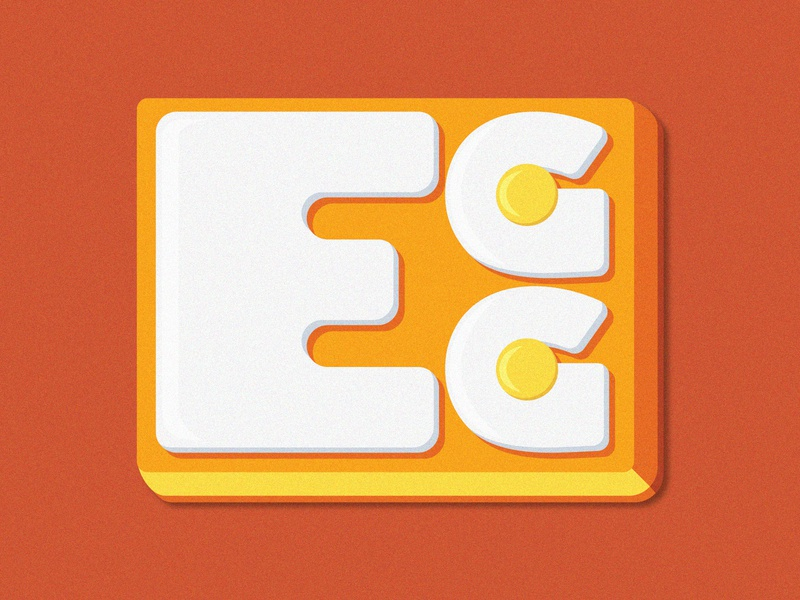 EggTypo_Concept graphicdesign concept icon typography logo branding illustrator vector design illustration