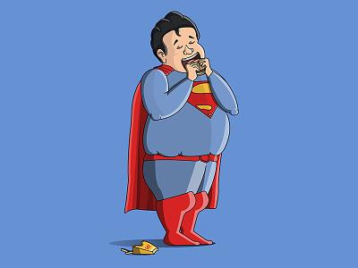 Junk Foodie Superman dccomics dc cartoon cartooncharacter junkfoodie superman characterdesign