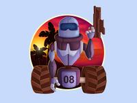Robot_Fighter_2_T-Shirt design