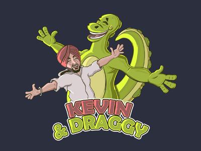 Kevin and Draggy sardar dragon design illustrator cartooncharacter vector conceptart illustration characterdesign cartoon