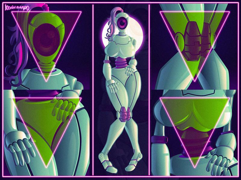 Lady_From_Kepler hotlady alien planet vector robot conceptart illustration cartooncharacter characterdesign cartoon