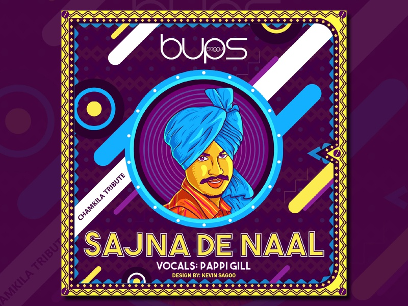 Sajna_de_naal cdcover punjabi indian vector illustrator poster art poster songcover design illustration