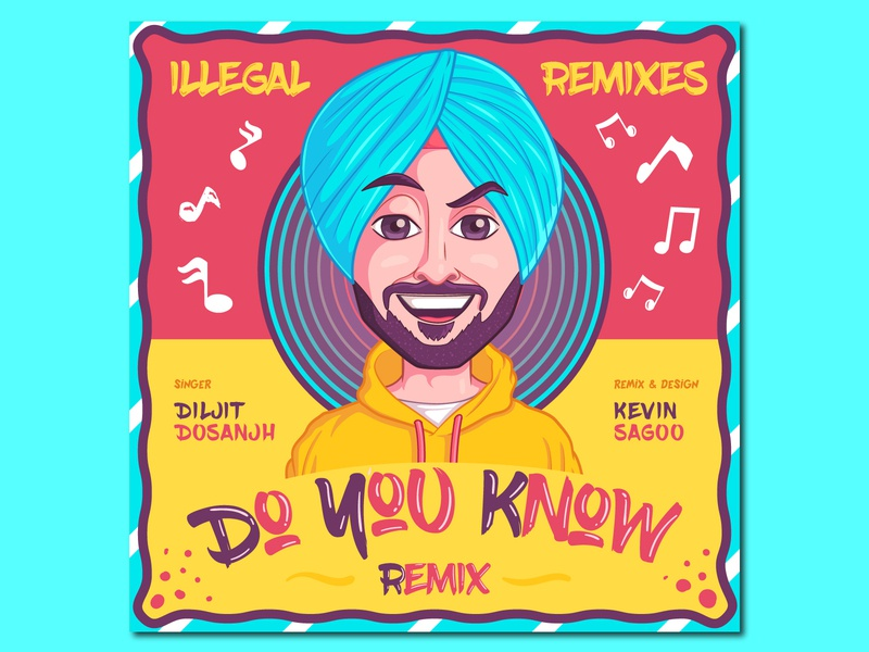 Do You Know Remix graphics poster design mascot sardar music poster characterdesign cartoon vector illustration