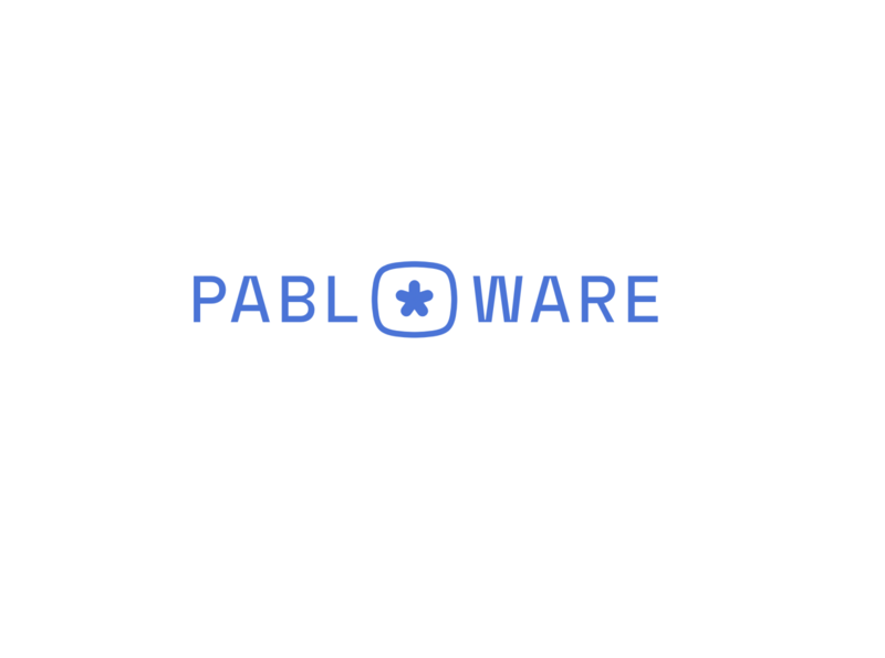 Pabloware Logo typography icon logo branding vector design