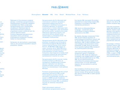 Pabloware Website website minimal web design typography web ux ui design