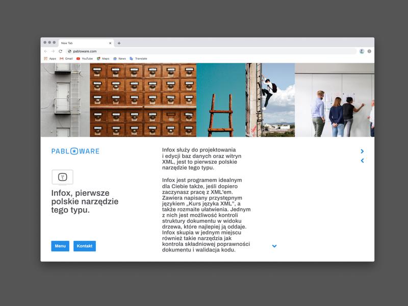 Pabloware Website, Infox Subpage ui ux web website web design typography branding vector design