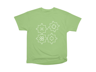 United Processors t-shirt, feijoa colour version.