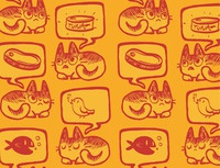 Hungry Cat Pattern