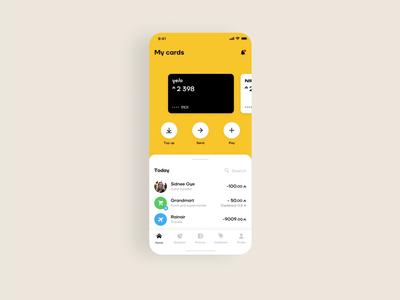 Online Banking – Mobile App user interface ui ux mobile design mobile ui mobile app design mobile app wallet app online bank mobile fintech app fintech finance banking app banking