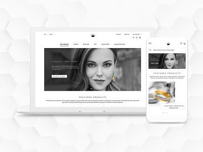 Jewellery Web Page UI website website design uiux design uidesign uiux jewelry jewellery ecommerce webdesign web design ux ui