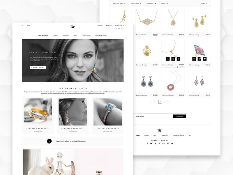 Jewellery Web UI website website design webdesign web uiux design uiux ui uidesign jewelry ecommerce jewellery design