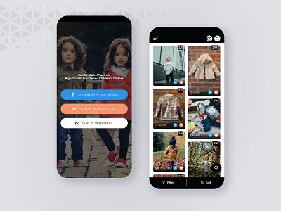Toddler's Fashion - E-commerce App ui design marketplace mobile app design mobile design mobile app mobile ui ecommerce design ecommerce app ui  ux clothes fashion app fashion children uiux design ecommerce uiux ui uidesign