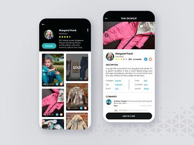 Toddler's Fashion - E-commerce App marketplace mobile app design mobile design mobile app mobile ui fashion app fashion children ecommerce design ecommerce app ui  ux uiux design uiux ui uidesign ecommerce