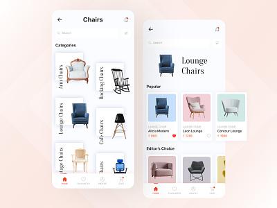 Furniture Shop - Mobile Application furniture shop furniture ecomm ecommerce app furniture app furniture application app app design uiux design uiux uidesign ui