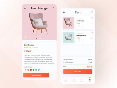 Furniture Shop - Mobile Application furniture ecommerce furniture app furniture mobile app application app app design uiux design uiux uidesign ui