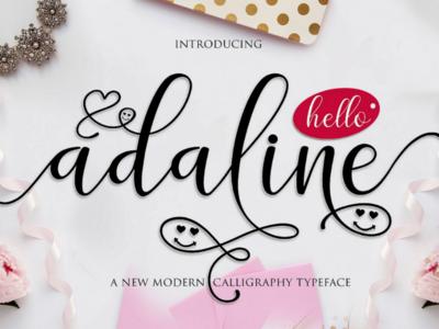Adaline script calligraphy font