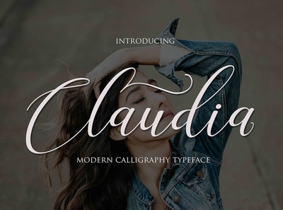 claudia modern calligraphy font